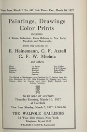 Cover of: Paintings, drawings, color prints