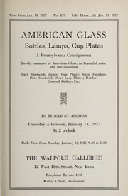Cover of: American glass, bottles, lamps, cup plates