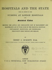 Cover of: Hospitals and the state