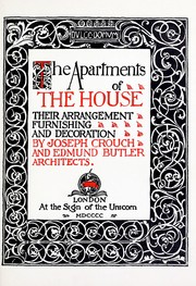 Cover of: The apartments of the house | Joseph Crouch