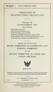 Compilation of selected public health laws by United States