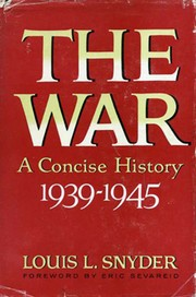 Cover of: The war: a concise history, 1939-1945