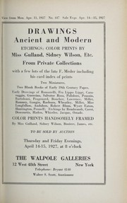 Cover of: Drawings, ancient and modern