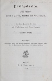 Cover of: Pantschatantra