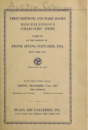 Cover of: First editions and rare books, miscellaneous collectors