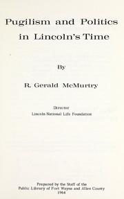 Cover of: Pugilism and politics in Lincoln's time