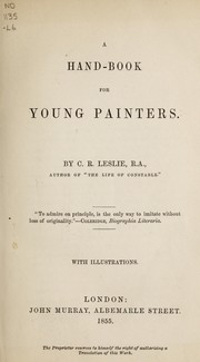 Cover of: A hand-book for young painters