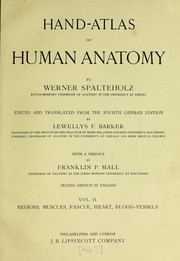 Cover of: Hand atlas of human anatomy