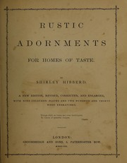 Cover of: Rustic adornments for homes of taste