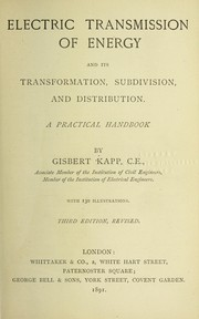Cover of: Electric transmission of energy