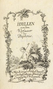 Cover of: Idyllen