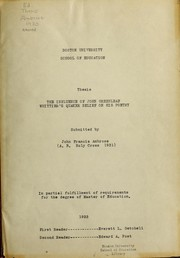 Cover of: Influence of John Greenleaf Whittier