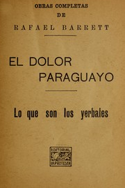 Cover of: El dolor paraguayo