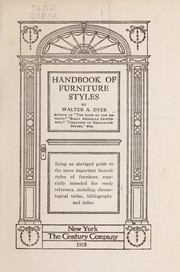 Cover of: Handbook of furniture styles...