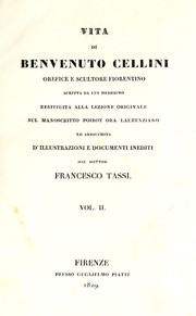Cover of: Vita di Benvenuto Cellini