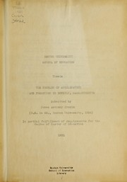 Cover of: Problem of acceleration and promotion in Beverly, Massachusetts | James Anthony Cronin