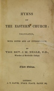 Cover of: Hymns of the Eastern Church
