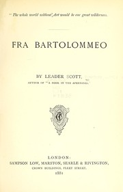 Cover of: Fra Bartolommeo