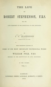 Cover of: The life of Robert Stephenson
