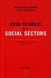 Cover of: Good to Great and the Social Sectors