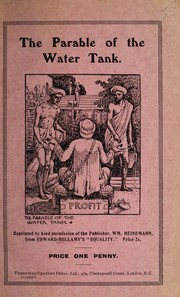 Cover of: The parable of the water tank