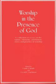 Cover of: Worship in the Presence of God |