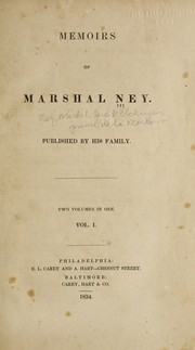 Cover of: Memoirs of Marshal Ney