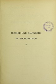 Cover of: Technik und Diagnostik am Sektionstisch