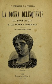 Cover of: La donna delinquente