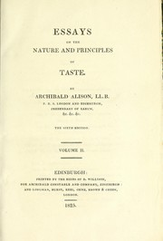 Cover of: Essays on the nature and principles of taste