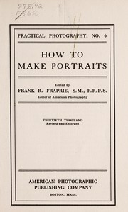 How to make portraits by Fraprie, Frank Roy