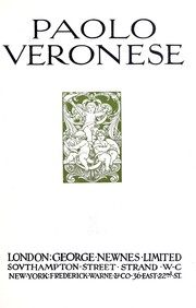 Cover of: Paolo Veronese