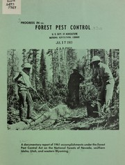 Cover of: Progress in forest pest control
