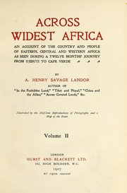 Cover of: Across wildest Africa