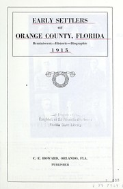 Cover of: Early settlers of Orange County, Florida | Clarence E. Howard