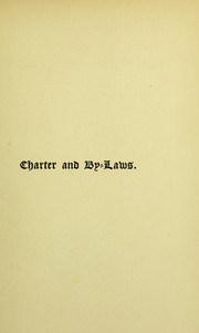 Cover of: The charter and by-laws of the corporation of the governor and directors of the Hospital for Poor French Protestants and their Descendants Residing in Great Britain