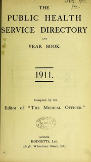 Cover of: The public health service directory and year book, 1911 |
