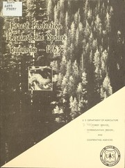 Cover of: Forest protection against spruce budworm southern Idaho and adjoining Montana areas, 1963