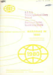 World demand prospects for bananas in 1980 with emphasis on trade by less developed countries