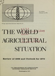Cover of: The world agricultural situation