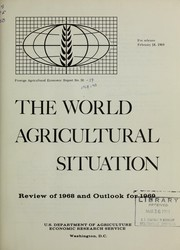 Cover of: The world agricultural situation | Donald Chrisler