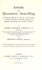 Cover of: Artistic and decorative stencilling