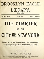 Cover of: The Charter of the city of New York