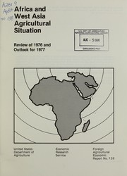 Cover of: Africa and West Asia agricultural situation |