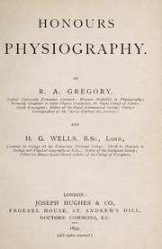 Cover of: Honours physiography | Gregory, Richard Sir