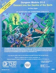 Cover of: Descent into the Depths of the Earth (Advanced Dungeons & Dragons Module D1-2)