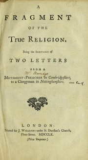 Cover of: A fragment of the true religion