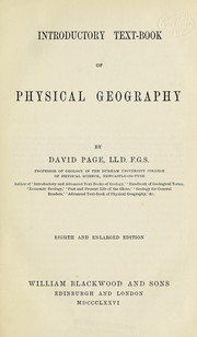 Cover of: Introductory text-book of physical geography | Page, David