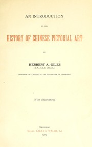 Cover of: An introduction to the history of Chinese pictorial art