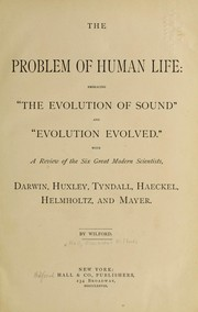 Cover of: The problem of human life